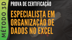 PROVA - CERTIFICAÇÃO ESPECIALISTA EM ORGANIZAÇÃO DE DADOS NO EXCEL
